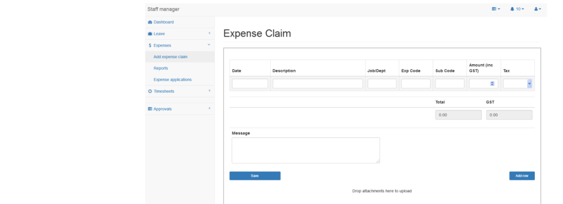 Simplified expense processing